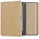 kwmobile Cover for Kobo Aura Edition 2 - flip cover case eReader protective case in plastic - flip case eReader bookstyle Glitter Uniform gold