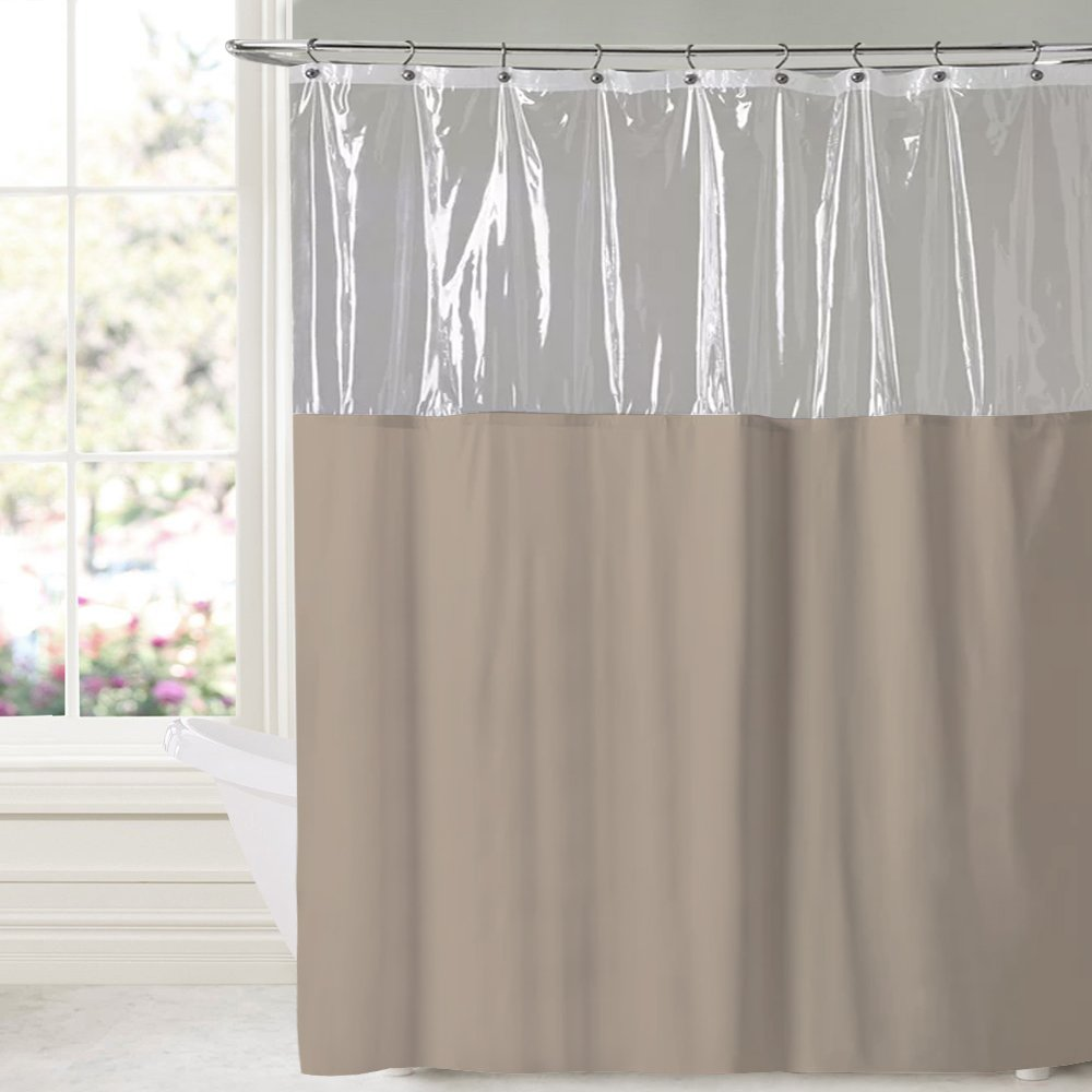 Sweet Home Collection 10 Gauge Vinyl Shower Curtain 72