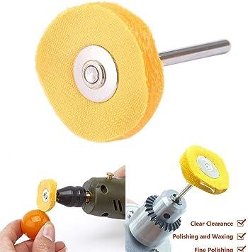 10 cepillos de rueda de algodón para pulir con mango de 3 mm ...