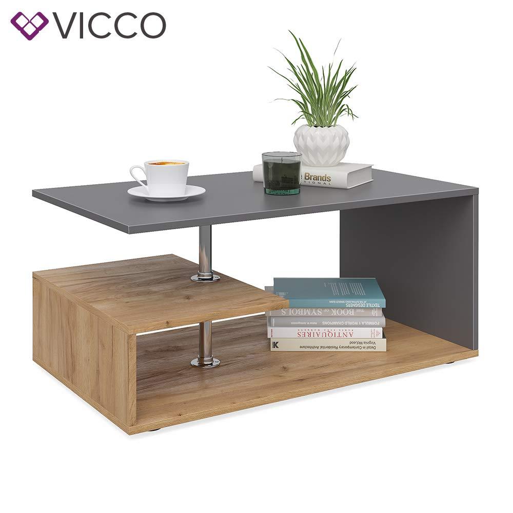 90 x 50 cm bianco quercia di Sonoma tavolino da divano disponibile in 4 colori in legno Vicco Guillermo da salotto
