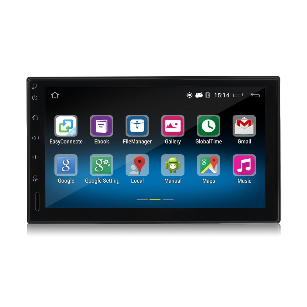 Android Car Player, LESHP Double 2DIN Android 5.1 Car Radio Stereo 7 Inch Touch Screen High Definition 1024x600 GPS Navigation Bluetooth USB SD Player 1G DDR3 + 16G NAND Memory Flash for Car