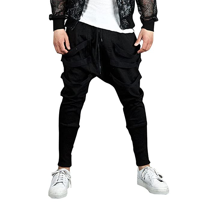 Ularma Hombres Jogger Danza Sportwear Holgados harén Pantalones ...