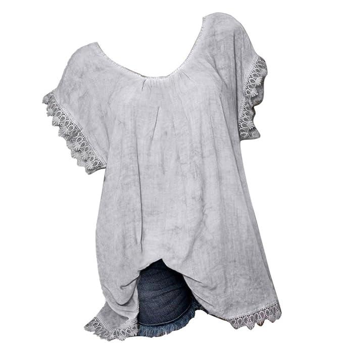 Camisas Mujer, BBestseller Blusa Manga Larga con Cuello en V de Irregular Verano, amisa de la Blusa Mujer Manga Larga Camisa Maciza Blusa Casual Tops ...