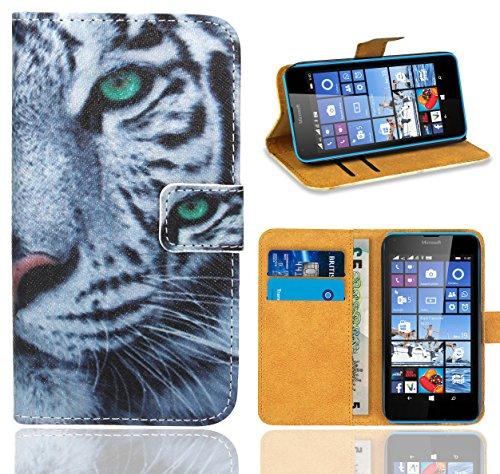Microsoft Lumia 640 / 640 Dual SIM Handy Tasche, FoneExpert® Wallet Case Flip Cover Hüllen Etui Ledertasche Lederhülle Premium Schutzhülle für Microsoft Lumia 640 / 640 Dual SIM (Pattern 6)