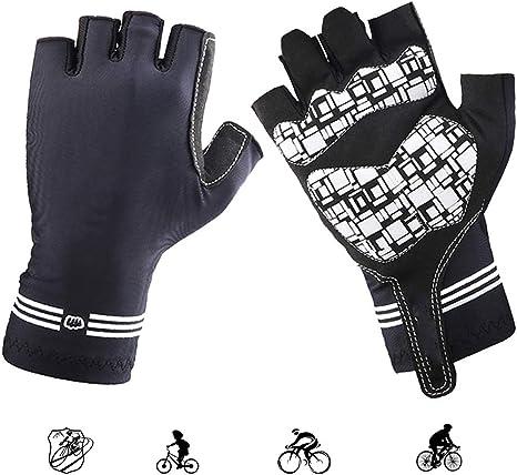 KuaiKeFsport Guantes Ciclismo Hombre Mujer Verano Medio Dedo ...