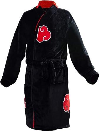 prettycos Albornoz para adulto Naruto Uchiha Itachi Albornoz franela Anime Cosplay Disfraz Pijamas
