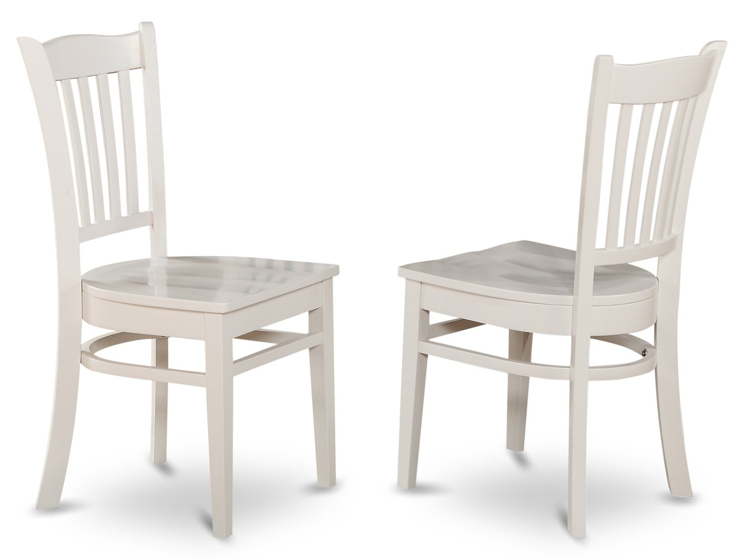 white wood dining chairs Amazon.com: East West Furniture GRC WHI W Dining Chair Set with  white wood dining chairs