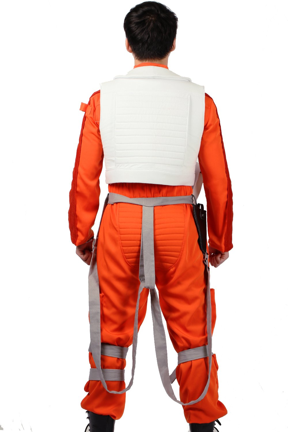 XCOSER Poe Dameron Costume Deluxe Orange Jumpsuit Suit Halloween Cosplay Outfit XL by xcoser (Image #4)