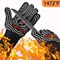 SUMPRO BBQ Gloves Extreme Heat Resistant,Hot Cooking Oven Gloves for Kitchen,Heat Resistant Grill Gloves for Men,Women,Smoker,Barbecue,Grilling,13.5 Inch