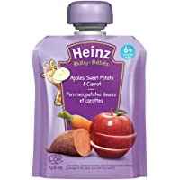 Heinz Baby Strained Apple, Sweet Potato & Carrot, 128mL Pouch, 6 Count