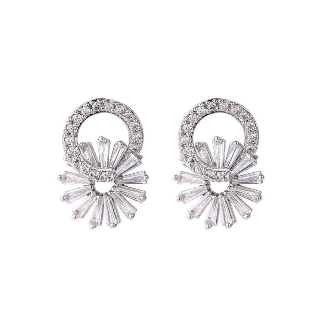 e17672526a6 Amazon.com: Perfect house Korean Fashion Flower Diamond Earrings ...