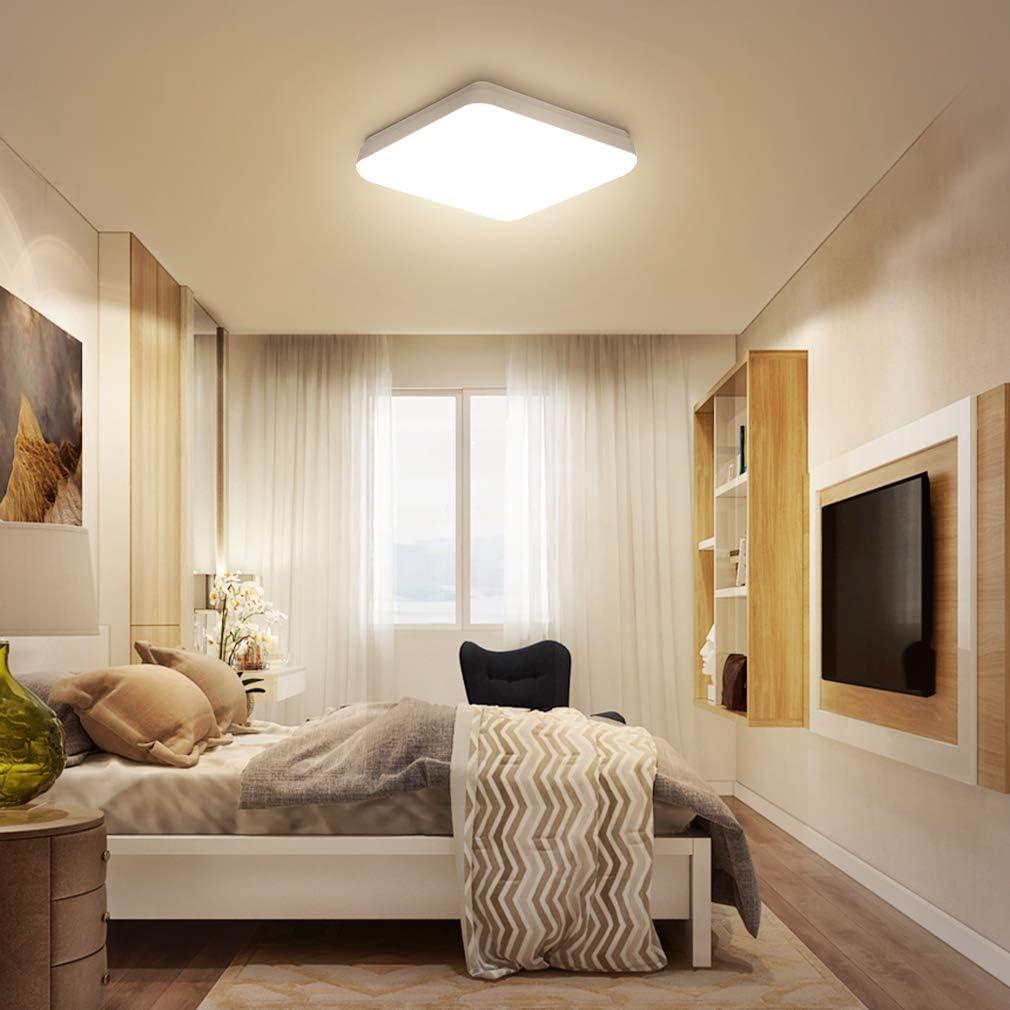 Werkstatt 4000K Oeegoo 12W LED Deckenleuchte Bad Flimmerfreie Deckenlampe Wandleuchte f/ür Keller Flur Balkon Diele IP54 Wasserfest Feuchtraumleuchte 960lm led Badezimmerlampe