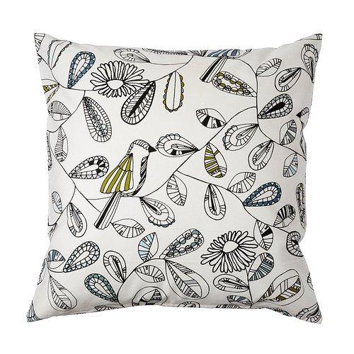 IKEA SNABBVINGE - Funda de cojín, blanco, multicolor - 50x50 ...