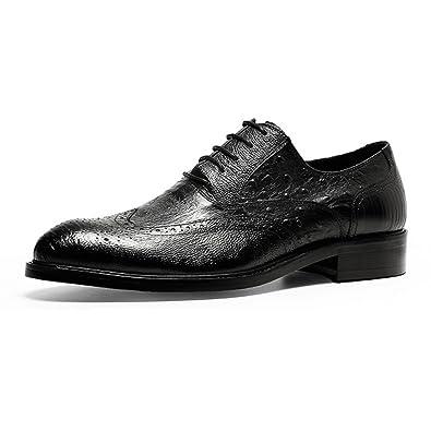 YCGCM Hommes Chaussures en Cuir Motif D'autruche Affaires