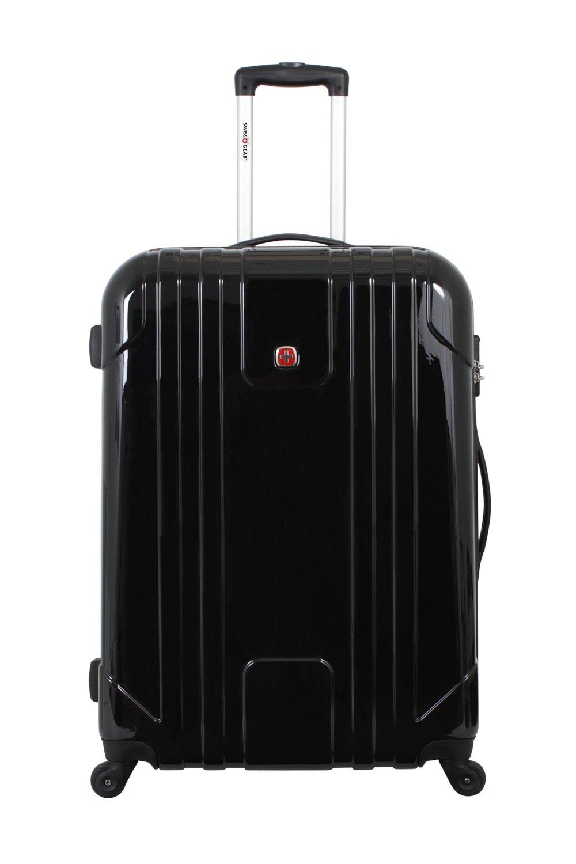 SwissGear Wiese 28 Inch Hardside Spinner Suitcase, Black