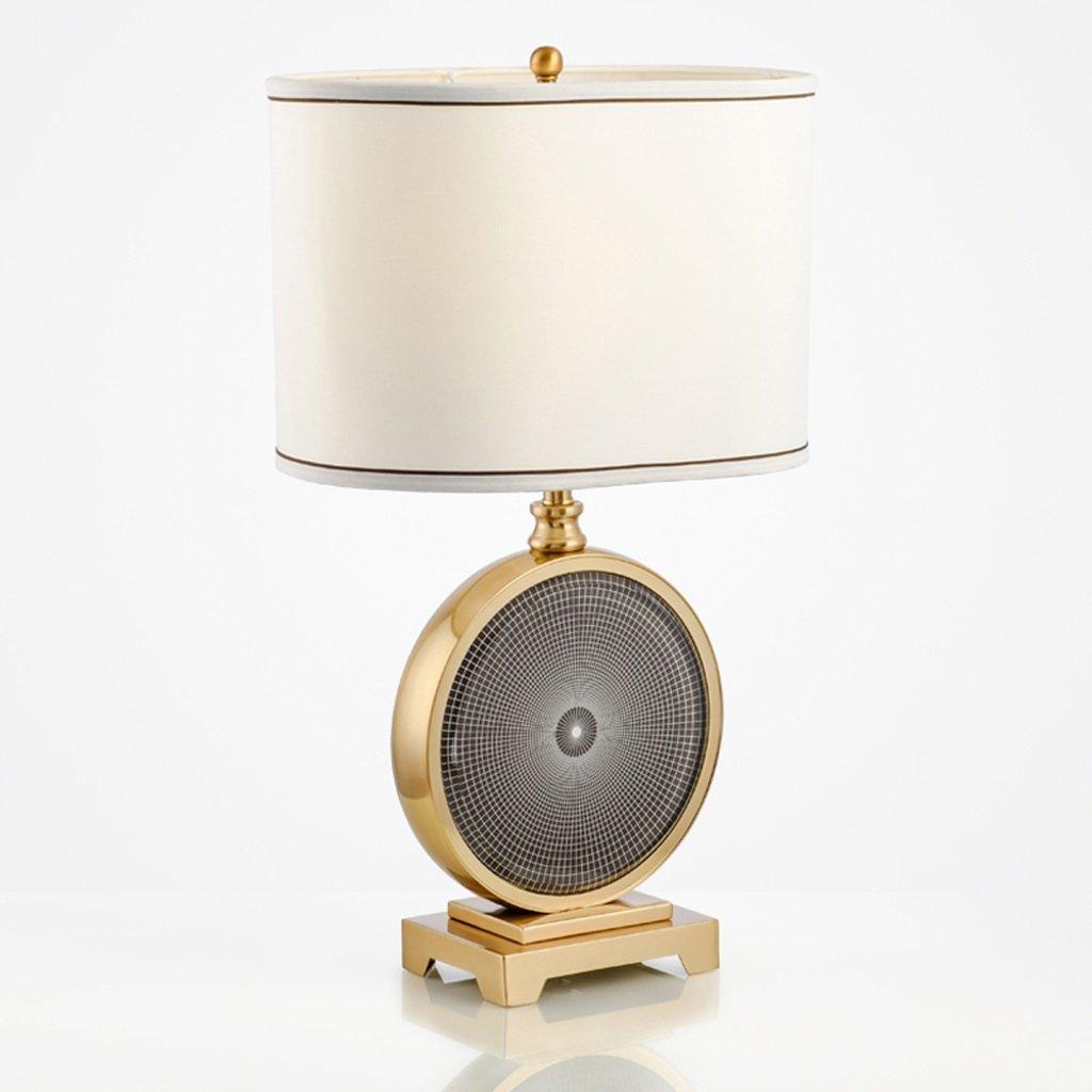 Hanlon E27-Schraubsockel, Tischlampe Luxus Kristall Neue chinesische Eisen Tischlampe Nachttisch Schlafzimmer Modell Zimmer Wohnzimmer Hotel Lampe