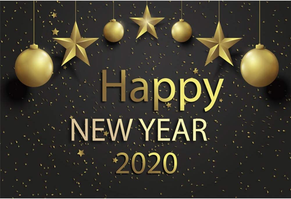 10x8ft Glitter 2020Happy New Year Photography Backdrop Shining Sequins Merry Christmas Bokeh Photo Background Video Drapes Wallpaper Photo Studio Props