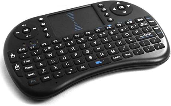 i8 Mini Teclado Inalámbrico con Touchpad Negro: Amazon.es: Electrónica