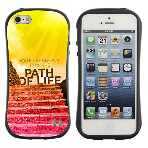 DREAMCASE Citation de Bible Silicone et Rigide Coque Protection Image Etui solide Housse T¨¦l¨¦phone Case Pour APPLE IPHONE 5 / 5S - YOU MAKE KNOWN TO ME THE PATH OF LIFE