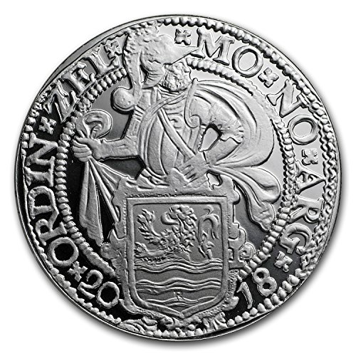 2018 NL Netherlands 1 oz Silver Proof Lion Dollar (w/Box & COA) $1 Brilliant Uncirculated (Lion Dollar Coin)