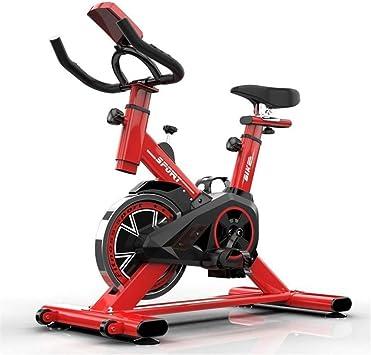 KUANGQIANWEI Bicicleta Spinning Inicio Controlada Magnéticamente La Bicicleta Estática Vertical Cubierta Equipo Deportivo Ultra Silencioso Bicicleta De Spinning (Color : Red): Amazon.es: Deportes y aire libre