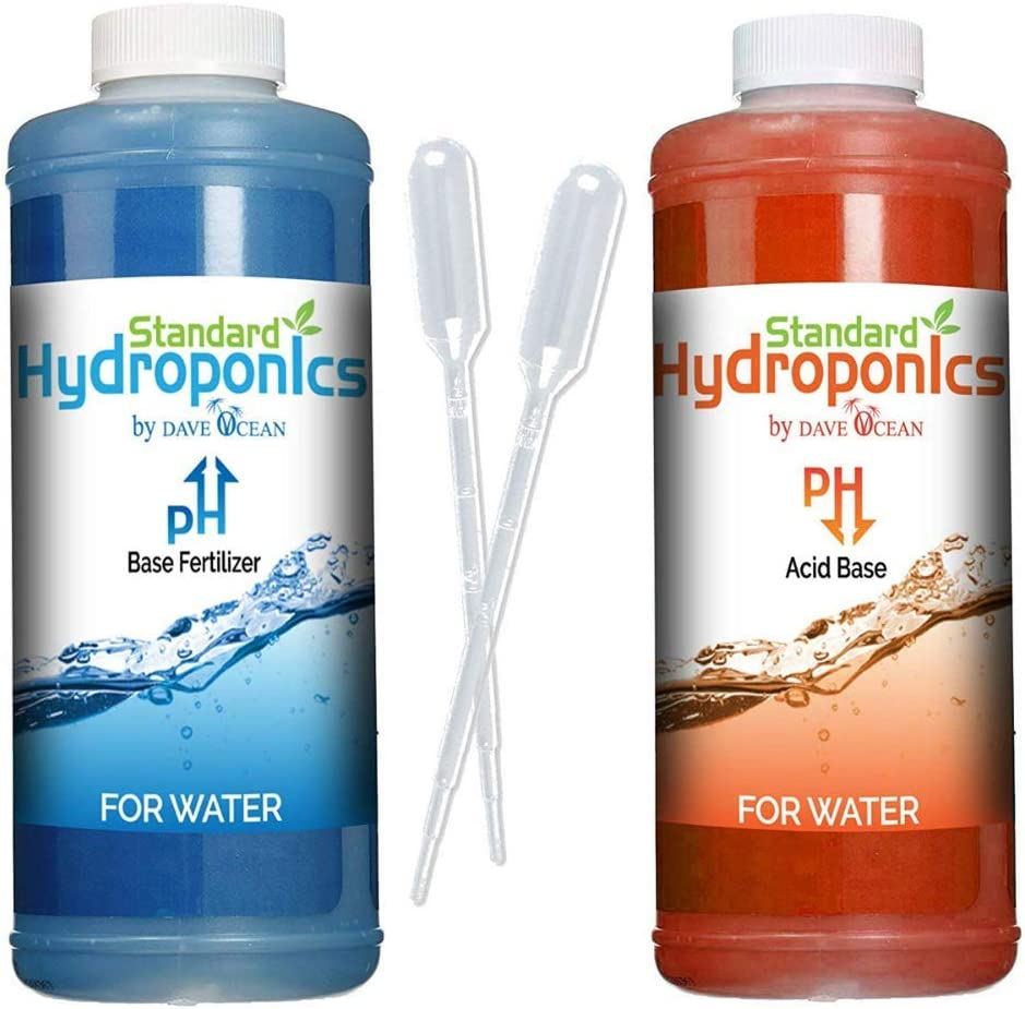 Standard Hydroponics pH Up and Down Kit - 10 Ounce Bottle pH Adjuster for Hydroponic Systems, Coco Coir Even Soil.