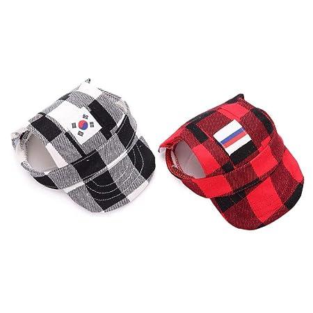 Gorra de verano para perros de tama/ño peque/ño para actividades al aire libre gorra para mascotas perros o gatos con visera
