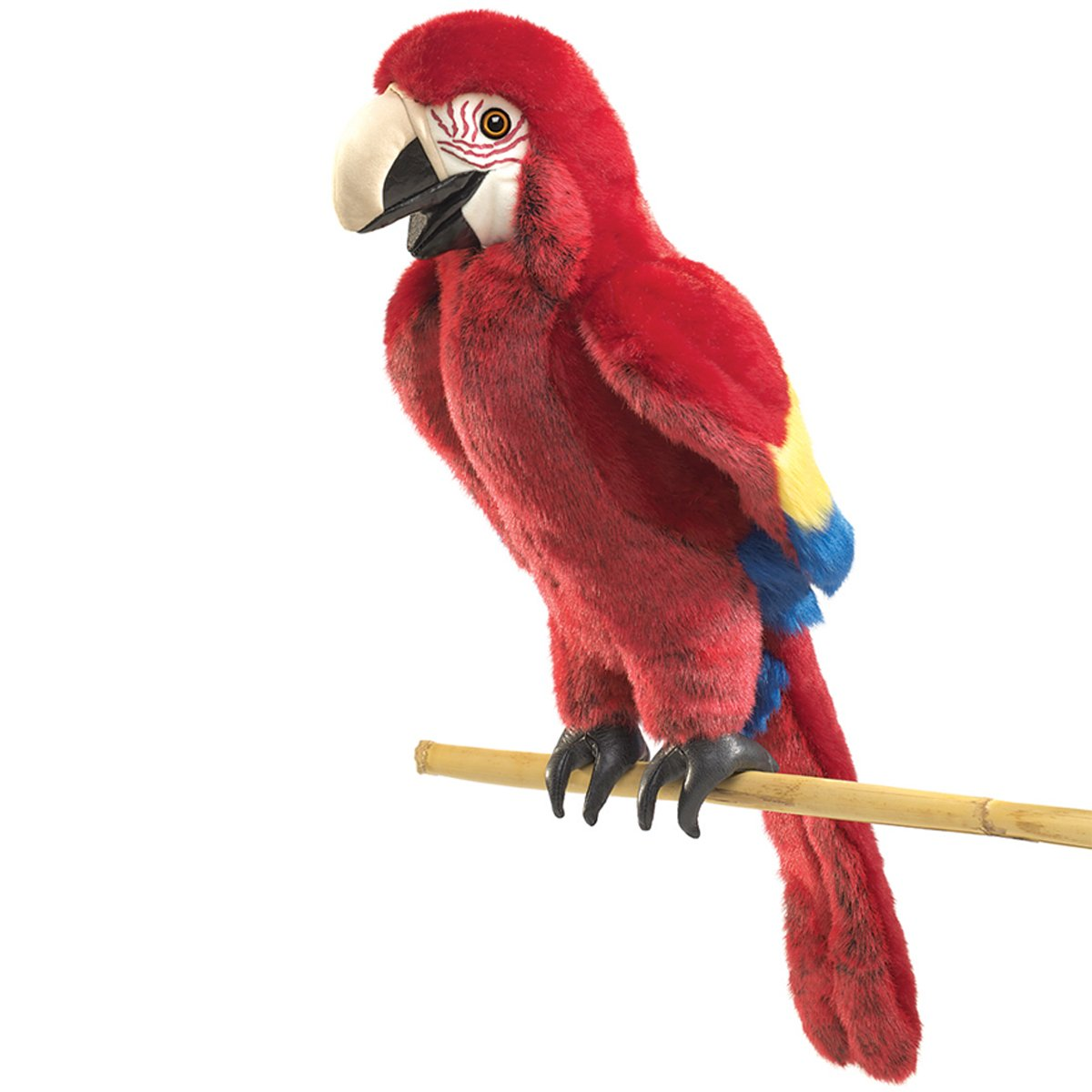 amazon com folkmanis scarlet macaw hand puppet toys games