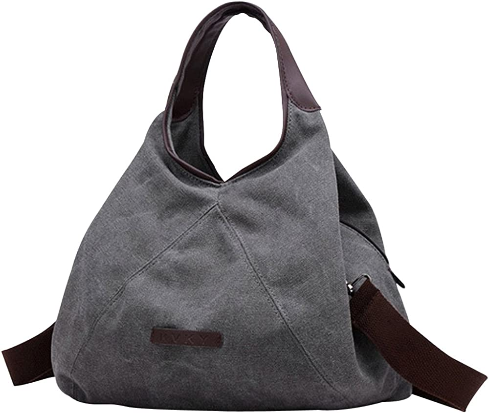 Oath/_song Womens Canvas Triangle Hobos Tote Crossbody Shoulder Bag
