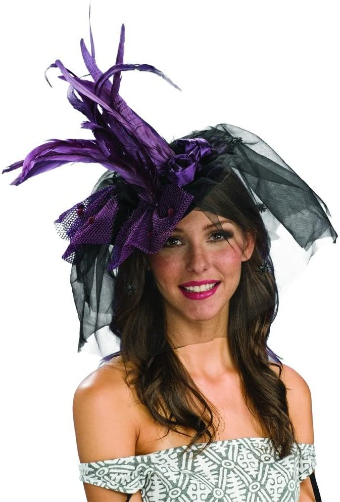 Rubie/'s Costume Co Prple Witch Hat with Feather Costume
