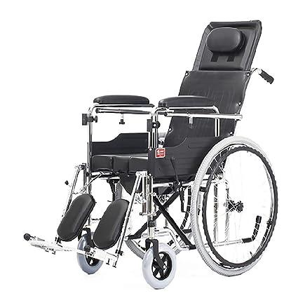 DPPAN Drive Medical Transport Silla de ruedas Reposapiés elevables para tubos de acero plegables, fuertes