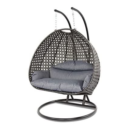 Superbe Island Gale Dubai Collection Wicker Swing Chair With Stand PRO((2 Person) X