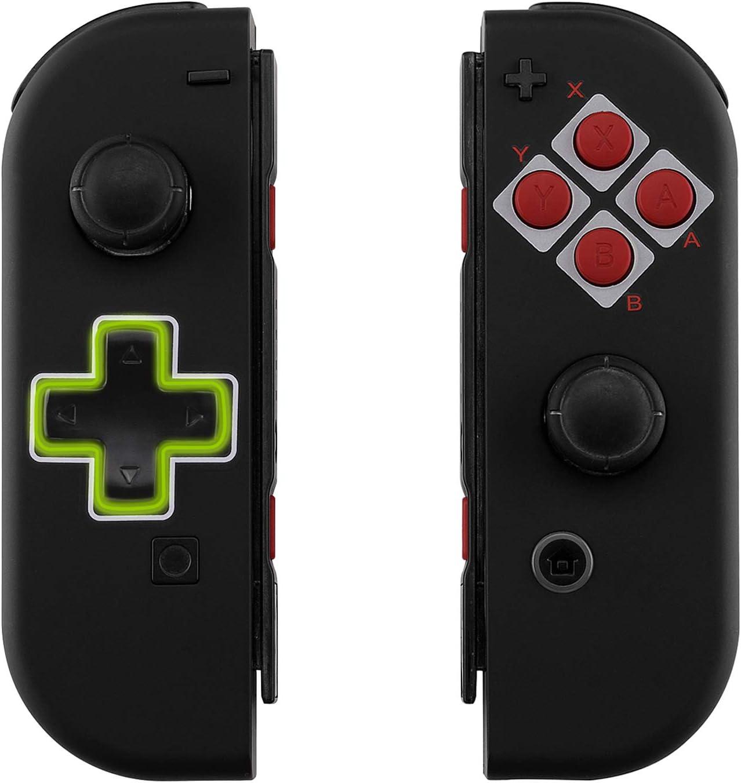eXtremeRate Carcasa Joy-con Botones Completos D-Pad para Nintendo Switch Funda de Agarre Reemplazable Tacto Suave Shell para Nintendo Switch No Incluye la Carcasa de la Consola (Clásico NES)