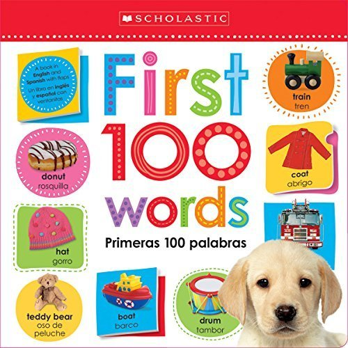 Lift the Flap: First 100 Words / Primeras 100 Palabras (Scholastic Early Learners) (English and English Edition) by Scholastic (2015-08-25) Paperback – 1750