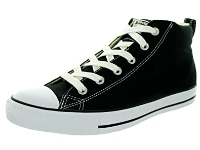converse all star black. converse unisex chuck taylor street mid black/natura basketball shoe 4 men us / 6 all star black