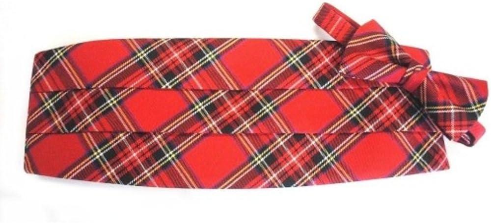 Scottish Tartain Plaid Cummerbund and Bow Tie Set