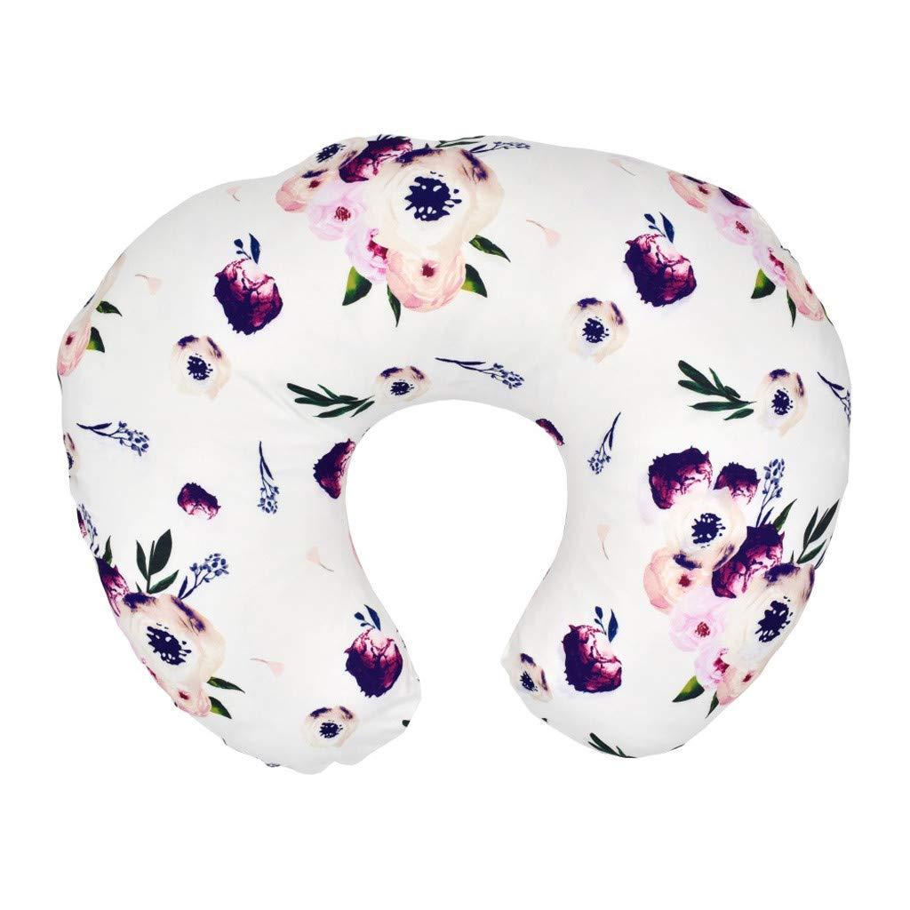 Soft and Comfortable Blend Nursing Pillow Slipcover,Maternity Breastfeeding Newborn Infant Feeding Cushion Cover Binory 22.5x18inch Newborn Cotton Breastfeeding Pillow Cover