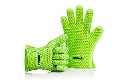 Topfhandschuhe Barbecue Handschuhe, Silikon Heat Resistant Grill Zubehör & Home Kitchen Tools für Ihre Indoor & Outdoor Bedür