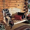 Rustic Natural Cedar Furniture 4-ft. Log Porch Swing