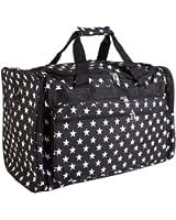 World Traveler Black White Stars Duffle Bag 22-inch