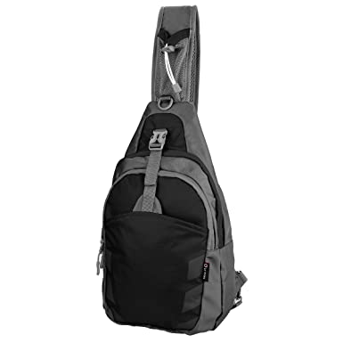 Amazon.com: Sling Bag Chest Shoulder Unbalance Gym Fanny Backpack ...