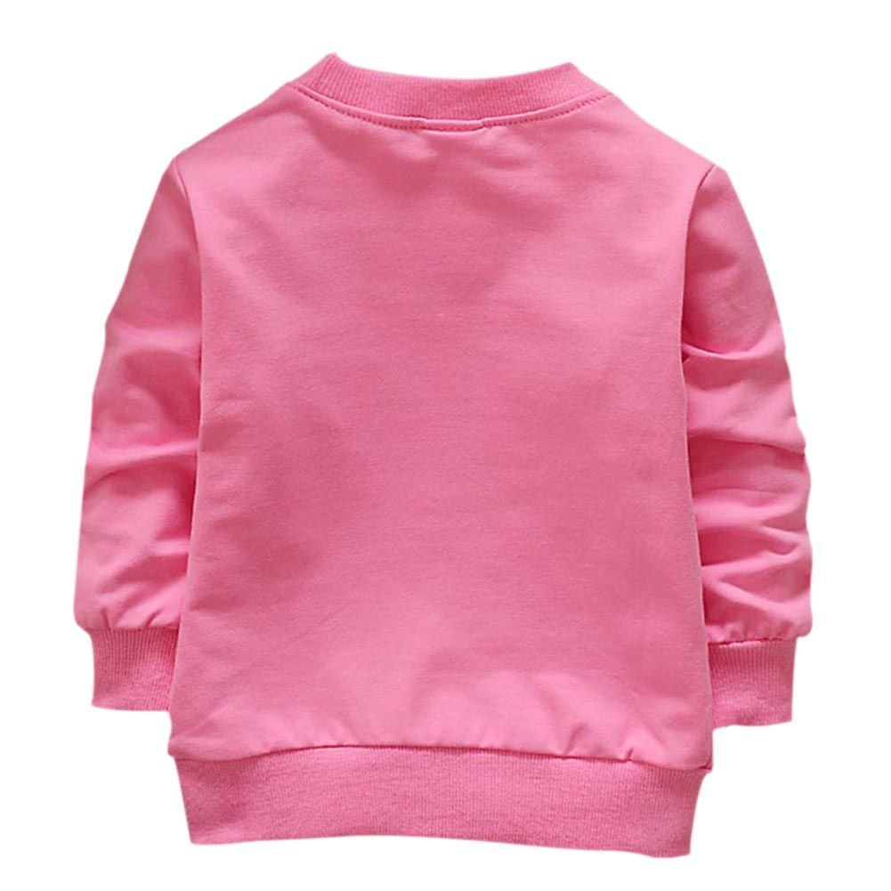 ESHOO B/éb/és Filles Sweatshirts Dessin Anim/é en Coton Pull-Over 1-4 Ans