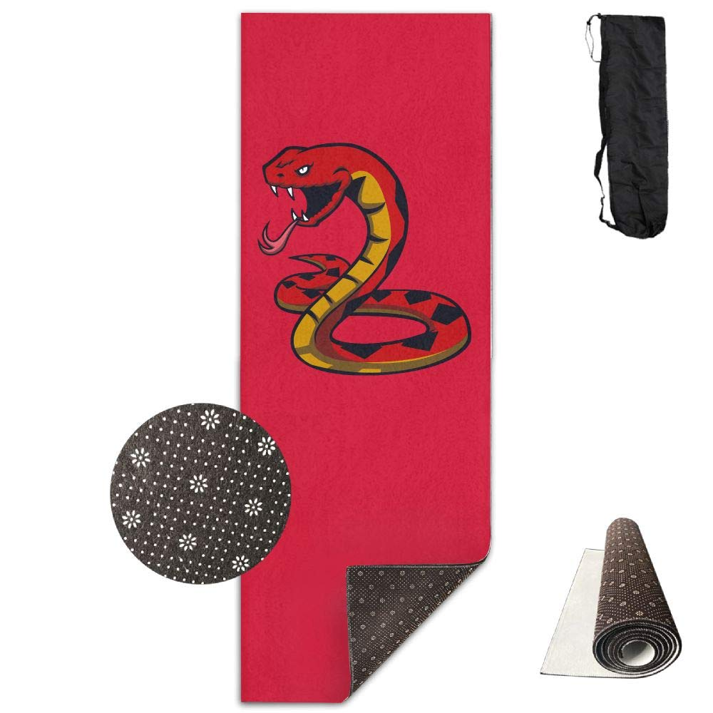 Bghnifs Fire Snake -Red Printed Design Yoga Mat Extra Thick Exercise & Fitness Mat Fit Yoga,Pilates,Core Exercises,Floor Exercises,Floor Exercises