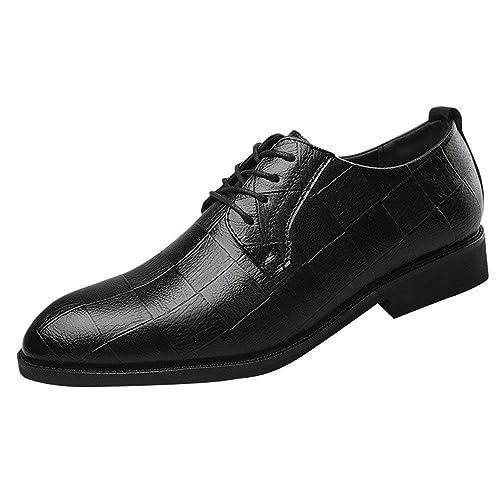 Zilosconcy Zapatos de Cuero de Negocios de Moda para Hombres ...