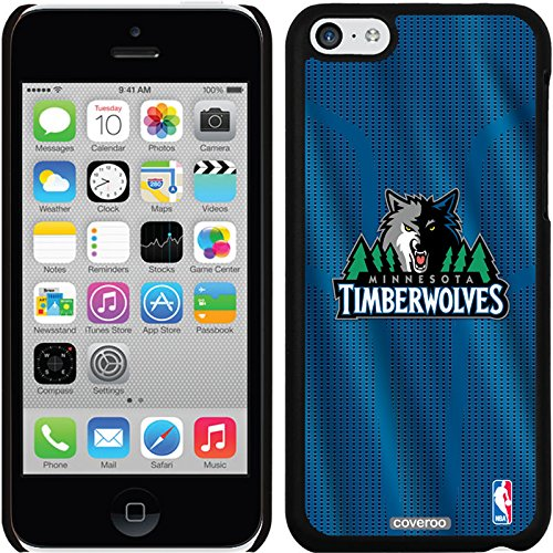 Coveroo iPhone 5C Black Thinshield Snap-On Case with Minnesota Timberwolves Jersey Design