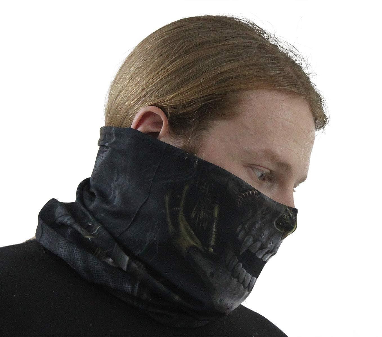 Spiral Unisex Goth Biker Multi Use FACE MASK Neck Warmer Scarf Steampunk Reaper