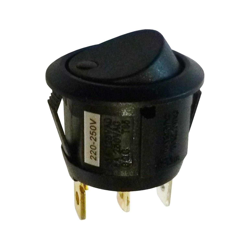 Rund Beleuchtet Spst Latching Rocker Switch Mit 230 V Ac Rot Light Cut Out D 20 Mm Gewerbe Industrie Wissenschaft