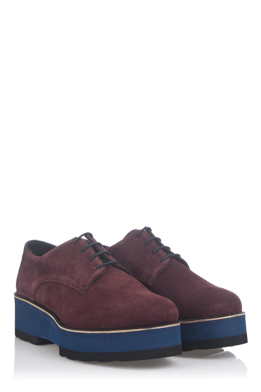 Laura Moretti Damen Bugy Shoes Schuhe38 EU|Burgunderrot