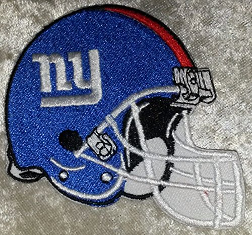 New York Giants Helmet NFL 3.5'' Iron On Embroidered Patch USA Seller! by Mastodon