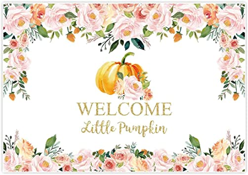 Amazon Com Allenjoy 7x5ft Halloween Baby Shower Backdrop For Girl 1st Birthday Onederland Fall Autumn Party Decorations Banner Decor Welcome Little Pumpkin Pink Floral Studio Photography Background Photo Booth Camera